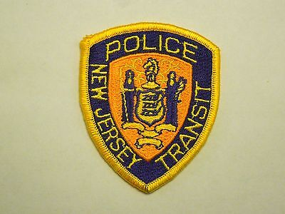 Vintage New Jersey Transit Police State Seal Rail Iron On Patch
