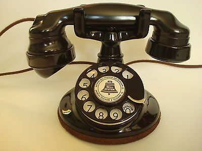 AntiqueOriginal 1920s  Round Western Electric 102 Telephone Works!