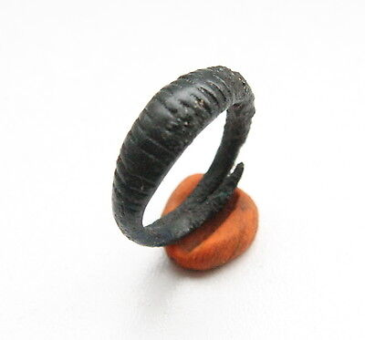 Ancient Old Viking Bronze Decorated Ring (AVG12)