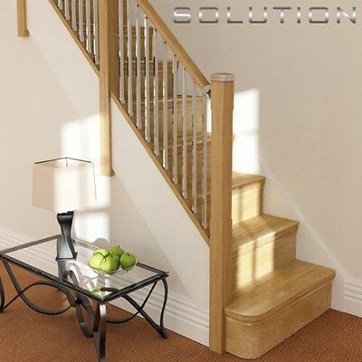 Solutions Contemporary  Balustrade Stair Kit Chrome Or Brushed Nickel Spindles