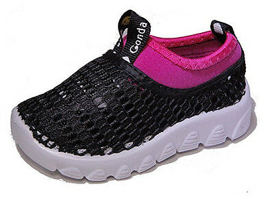 NWOT Conda Shoes Mesh Sneakers Hybrid Water Shoes sz 6M Toddler Black / Pink