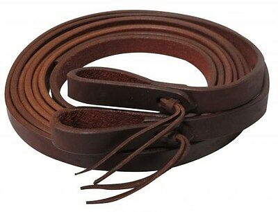 """Showman 8' x 3/4"""" Oiled Harness Leather Split Reins! MADE IN THE USA! HORSE TACK"""