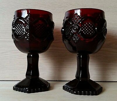 Avon Cape Cod Ruby Red Goblets