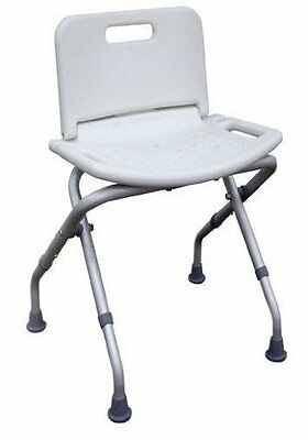 MedMobile Portable Folding Shower Bench with Back Bathing Benches & Chair