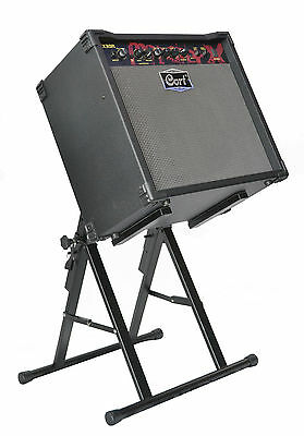 Amplifier Stand - Heavy Duty Angled Amp Stand. Multi-Position Angle & Height