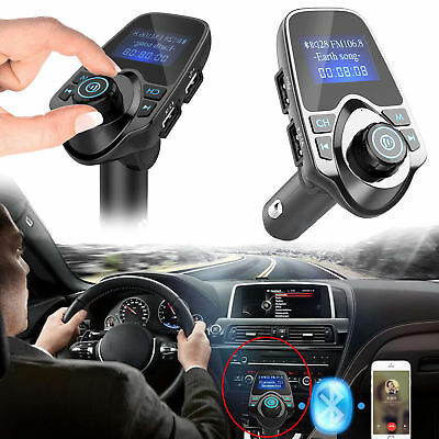 Bluetooth Car Kit FM Transmitter Wireless Radio Hands-free Adapter USB Charger