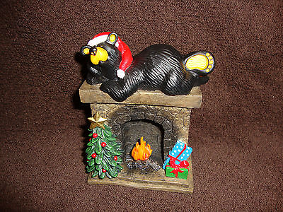 Hearthside Christmas Santa Bear Figurine by Bearfoots Jeff Fleming