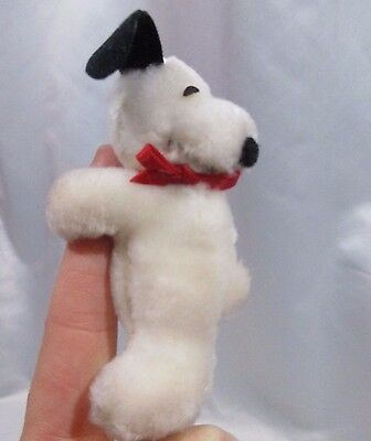 "Vintage Hugging Snoopy Determined Productions 4"" Plush Clip Ornament Fast Ship"