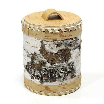 Canister for dry products. Handmade of Birch Bark. #03