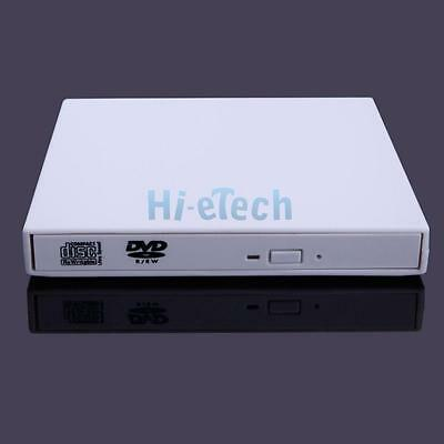 White USB 2.0 External Combo Laptop CD-RW DVD Drive Disc Reader for PC Tablet