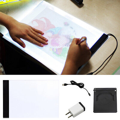 A4 LED Artist Stencil Board Tattoo Drawing Tracing Table  +  Base Accessories