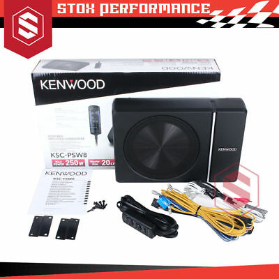 Kenwood KSC-PSW8 250W Peak Under Seat Subwoofer car Bass Controller KSCPSW8