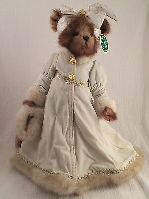 "Bearington Collection Lady Flurry 16"" Style#1741 Ivory Color Bow Snow Flake BTNS"