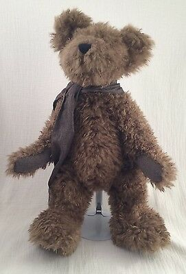 """Boyds Bears 17"""" D. L. Merrill Brown Shaggy Scarf Posable Style#51100-05"""