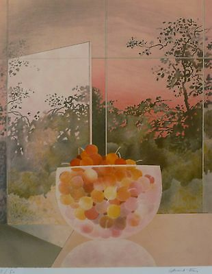 """Pierre Garcia-Fons """"cerises"""" cherries HAND SIGNED LIM.ED 1/50 LITHOGRAPH French"""