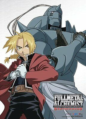 *NEW* Fullmetal Alchemist Brotherhood: Ed & Al Elric Battle Ready Fabric Poster