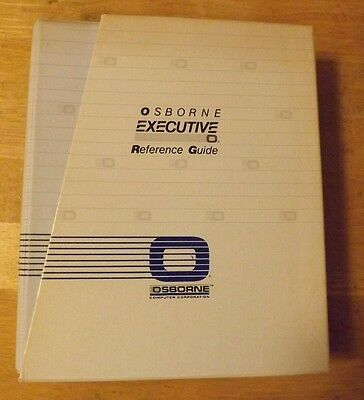 Osborne Computer Executive Reference Guide