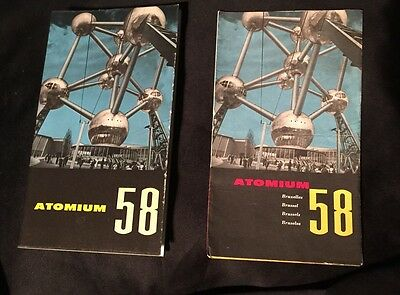 (2) Atomium Brochures 32 pages rare