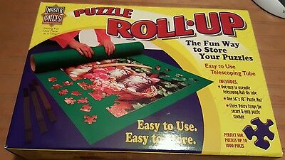 "Masterpieces Jumbo Puzzle Roll Up Mat 30x36"" Stores up to 1000 Pieces 50501~NIOB"
