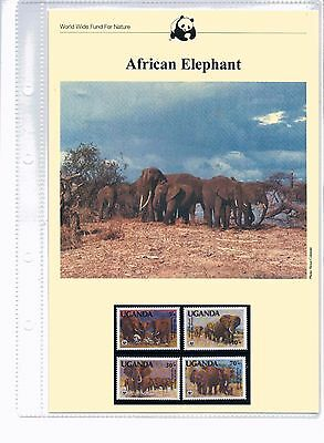 1983 WWF African Elephant MNH Stamps, FDCs and Information Sheets - 22 Aug 1983