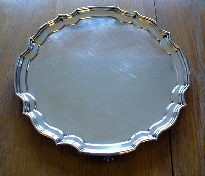 Vintage Silver Plate Salver with claw feet