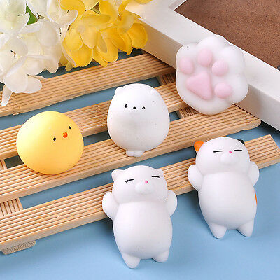 Adorable Small Animal Banana Peach Squishy Office Stress Relief Gift Squeeze Toy
