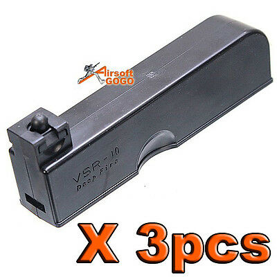 3PCS X 30rd Magazine for VSR-10 WELL MB10D MB11D MB12D Airsoft Bolt Action