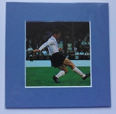 """1960'S BILLY MCDERMENT - LUTON TOWN   -  SIGNED PICTURE 6"""" x 6"""" MOUNTED DISPLAY"""