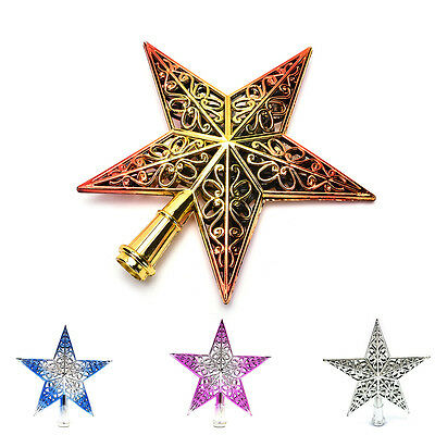 Christmas Tree Star Topper Ornament Party Decoration Xmas New Decorations Stars!