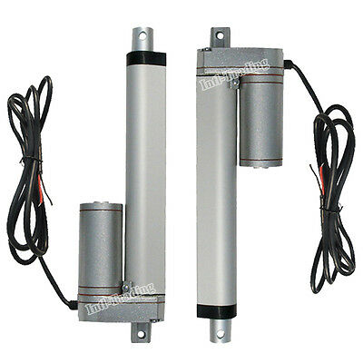 """2X 1500N 6"""" Linear Actuator-330lbs Multi-function for Solar Panel Electronic Car"""