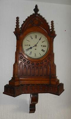 victorian triple fusee westminster GOTHIC oak bracket on BRACKET on  BELLS