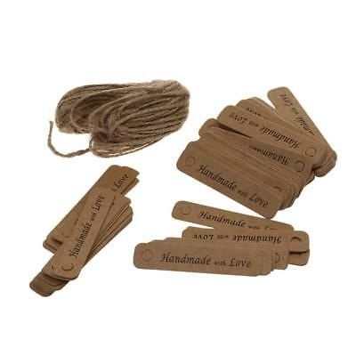 100Pcs Christmas Party Gifts Handmade love Kraft Paper Hanging Label Tags