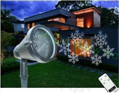 Remote Controlled Outdoor LED Christmas Projector Light moving White Snowflake