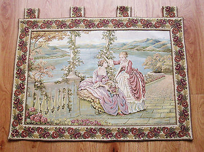 Vintage English Wall Hanging Tapestery - Featuring Classical Scene - Very LARGE