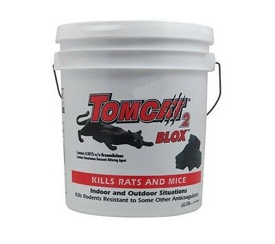 TOMCAT 2 RAT POISON BLOX Rodent Bait Mouse 1.5kg 4kg 8kg Tub Ready to Use Blocks