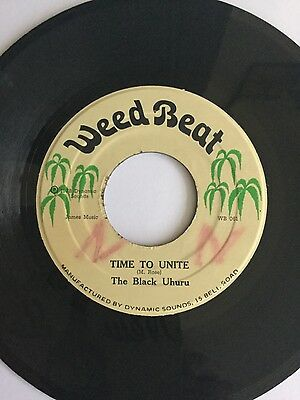 "Time To Unite:The Black Uhuru - Weed Beat WB061 7"" vinyl record"