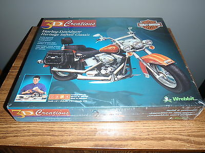 Harley Davidson 3D Creations Heritage Softail Classic model Scale 1:6 Wrebbit