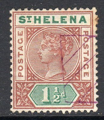 St. Helena QV 1880-97  1½d Red Brown & Green SG48 Used