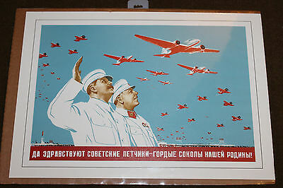 "Soviet/Russian-Stalin with Aircraft Print, 16"" by 11-1/2''"