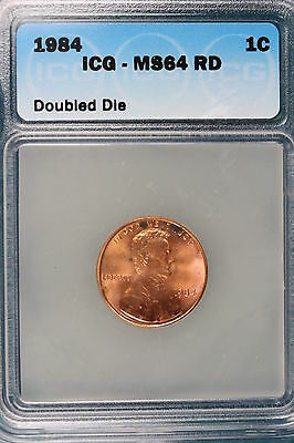 1984-P ICG MS64 RED Doubled Die Lincoln Memorial Cent!!#E0981
