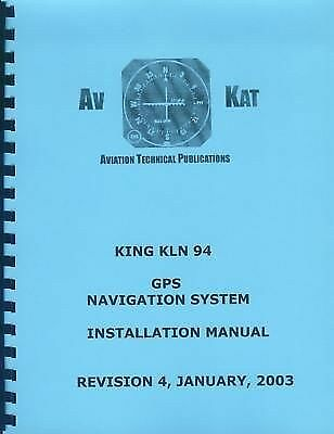 King Kln 94  Gps Navigation System  Installation Manual