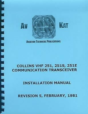 Collins Vhf 251 251S 251E Installation Manual collins vhf 251, 251s & 251e com service manual $151 26 picclick  at readyjetset.co
