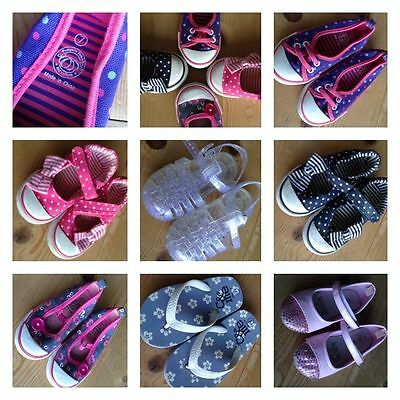 Size 6-7 Little Girls Shoes - Mixed Lot!