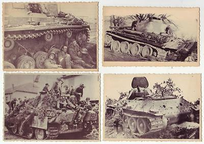 Lot 4 German Wwii Various Photos From Russian Archives: Tanks *