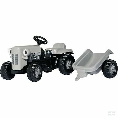 ROLLY KID TOYS RIDE ON PEDAL TRACTOR Grey Fergie & Trailer 014942 Kids Rollykid