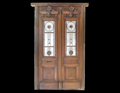 Antique Wooden Double Entry Door #A0014