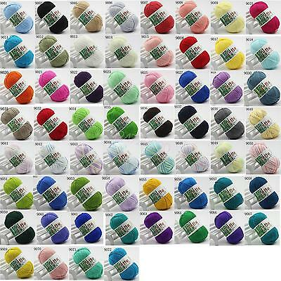 Super 60 Colors Soft Bamboo Crochet Cotton 50g Knitting Baby Knit Wool Yarn New
