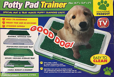 Potty Pad Trainer Indoor Dog Toilet Mat Grass Litter Tray Puppy Training Pad