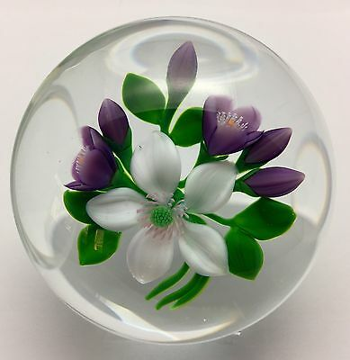Trabucco Floral Paperweight 1988