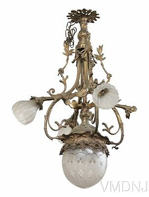 VMD742-French Empire Style Bronze Chandelier